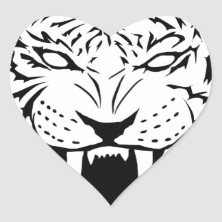 Sticker Cœur tigre