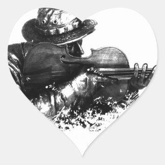 Sticker Cœur tireur isolé de violon