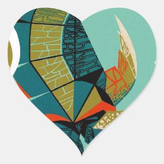 Sticker Cœur Tortue de mer australienne gaie