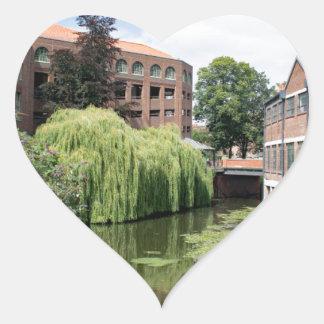 Sticker Cœur Une vue de la rivière Foss à York