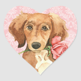 Sticker Cœur Valentine Saluki rose