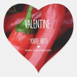 Sticker Cœur Valentine, vous êtes chauds !