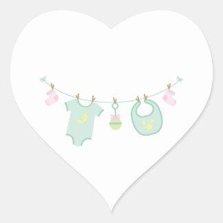 Sticker Cœur Vêtements de bébé