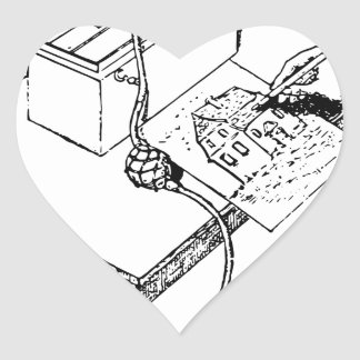 Sticker Cœur Vieil aerographe