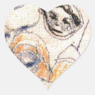 Sticker Cœur Visages