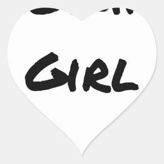Sticker Cœur WOKING GIRL - Jeux de mots - Francois Ville