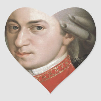 Sticker Cœur Wolfgang Amadeus Mozart