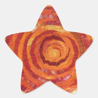 Sticker Étoile 2nd-Sacral Chakra - Peinture-Tissu orange #2