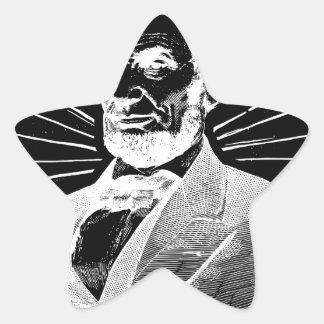Sticker Étoile Abraham Lincoln grunge