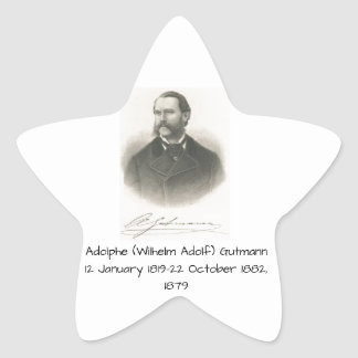 Sticker Étoile Adolphe (Wilhelm Adolf) Gutmann