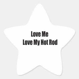 Sticker Étoile Aimez-moi amour mon hot rod