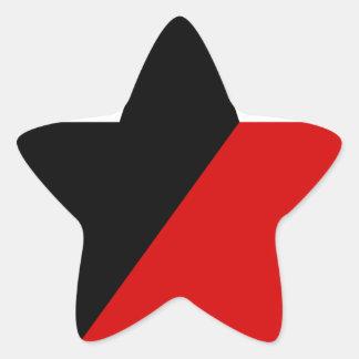 Sticker Étoile Anarchisme noir et rouge d'Anarcho-Syndicalisme