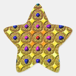 Sticker Étoile Arrière - plan de pierre gemme