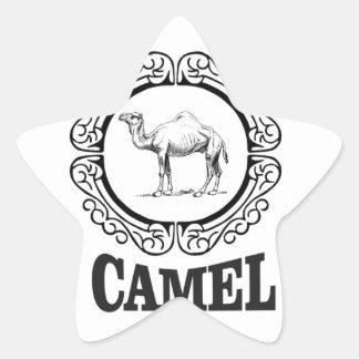 Sticker Étoile art de logo de chameau