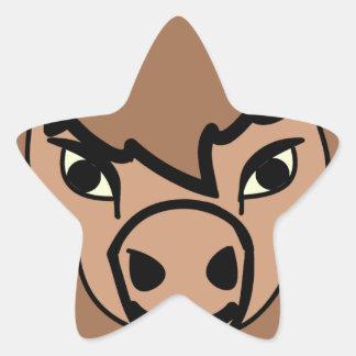 Sticker Étoile art de visage de bison