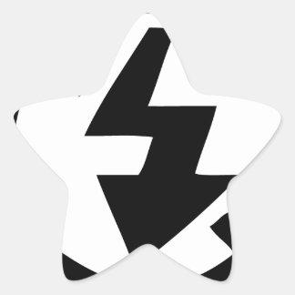 Sticker Étoile Aucune photographie instantanée