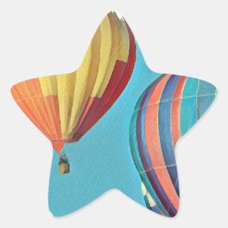 Sticker Étoile Ballons colorés 2