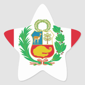 Sticker Étoile Bandera del Perú - drapeau du Pérou