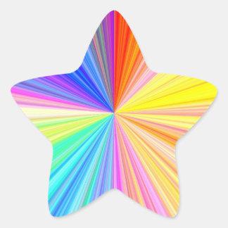 Sticker Étoile But multi Écrire-sur le métier de papier décoratif