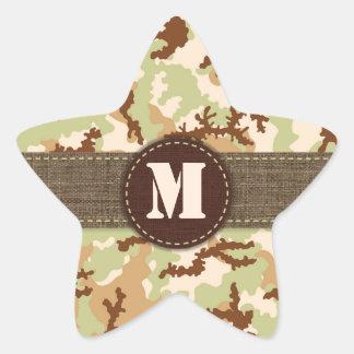 Sticker Étoile Camouflage de désert