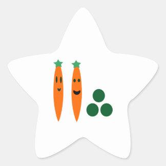 Sticker Étoile Carottes lunatiques et pois
