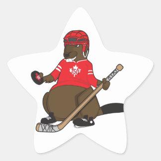 Sticker Étoile Castor d'hockey du Canada 150 en 2017