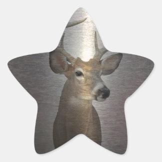 Sticker Étoile Cerfs communs primitifs grunges de queue blanche