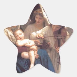 Sticker Étoile Chanson des anges - William-Adolphe Bouguereau