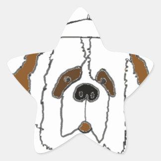 Sticker Étoile Chiot Francis pour de petits articles