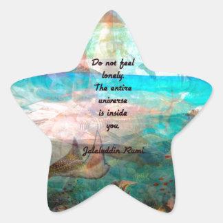 Sticker Étoile Citation d'inspiration de Rumi au sujet de