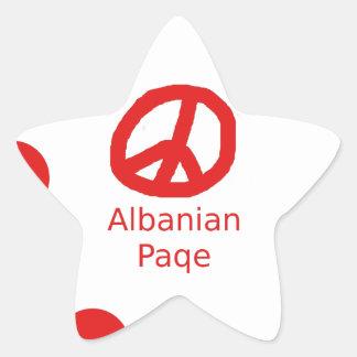 Sticker Étoile Conception albanaise de symbole de paix