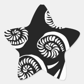 Sticker Étoile conception de koru d'aotearoa