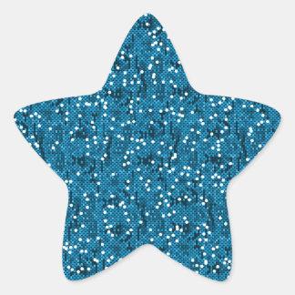 Sticker Étoile Confettis scintillants bleus de paillette