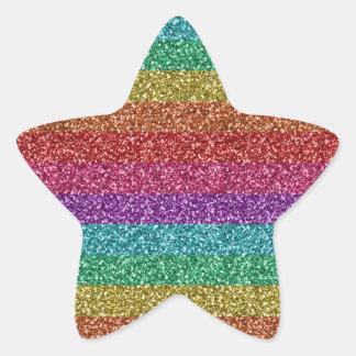 Sticker Étoile Couleurs lumineuses d'arc-en-ciel à la mode à la