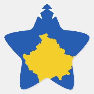 Sticker Étoile Coût bas ! Drapeau de Kosovo