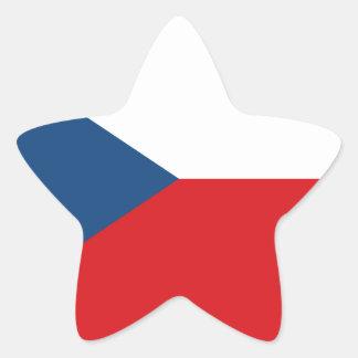 Sticker Étoile Coût bas ! Drapeau de République Tchèque