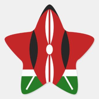Sticker Étoile Coût bas ! Drapeau du Kenya