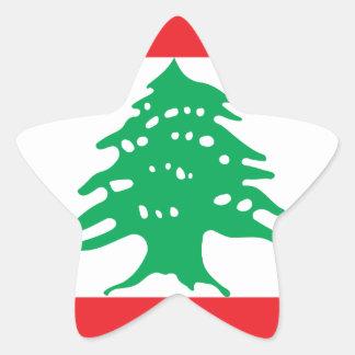 Sticker Étoile Coût bas ! Drapeau du Liban