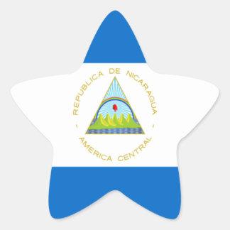 Sticker Étoile Coût bas ! Drapeau du Nicaragua