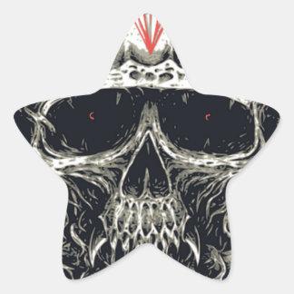 Sticker Étoile Crâne mauvais de diamant de Viking