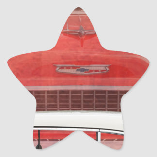 Sticker Étoile Cru blanc rouge de Dodge de voitures de Bel Air