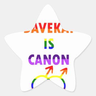 Sticker Étoile Davekat est Canon (v2)