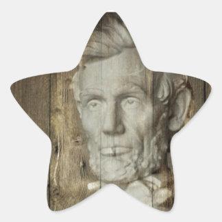Sticker Étoile DC Abraham Lincoln du Lincoln Memorial Washington