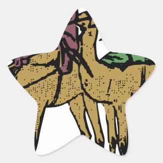 Sticker Étoile Deux types de chameau