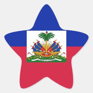 Sticker Étoile d'Haïti de Drapeau - drapeau du Haïti