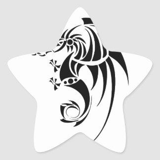 Sticker Étoile Dragissous V1 - dragon noir