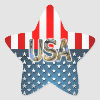 Sticker Étoile Drapeau américain en forme d'étoile