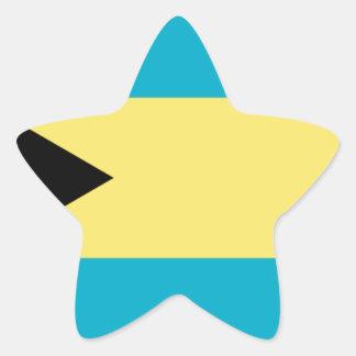 Sticker Étoile Drapeau des Bahamas