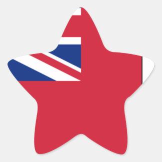 Sticker Étoile Drapeau des Bermudes