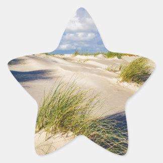 Sticker Étoile Dunes sur l'île Amrum de la Mer du Nord